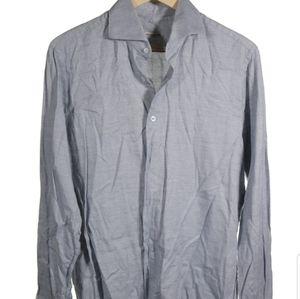 Roberto Ricetti Gray Cotton Button Down Shirt 16
